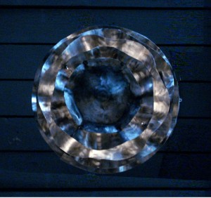 Steel Wave Light Fixture by Naomi Clare