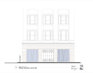 Storefront Exterior Elevation: South
